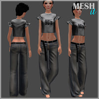 jeans loose 3D model