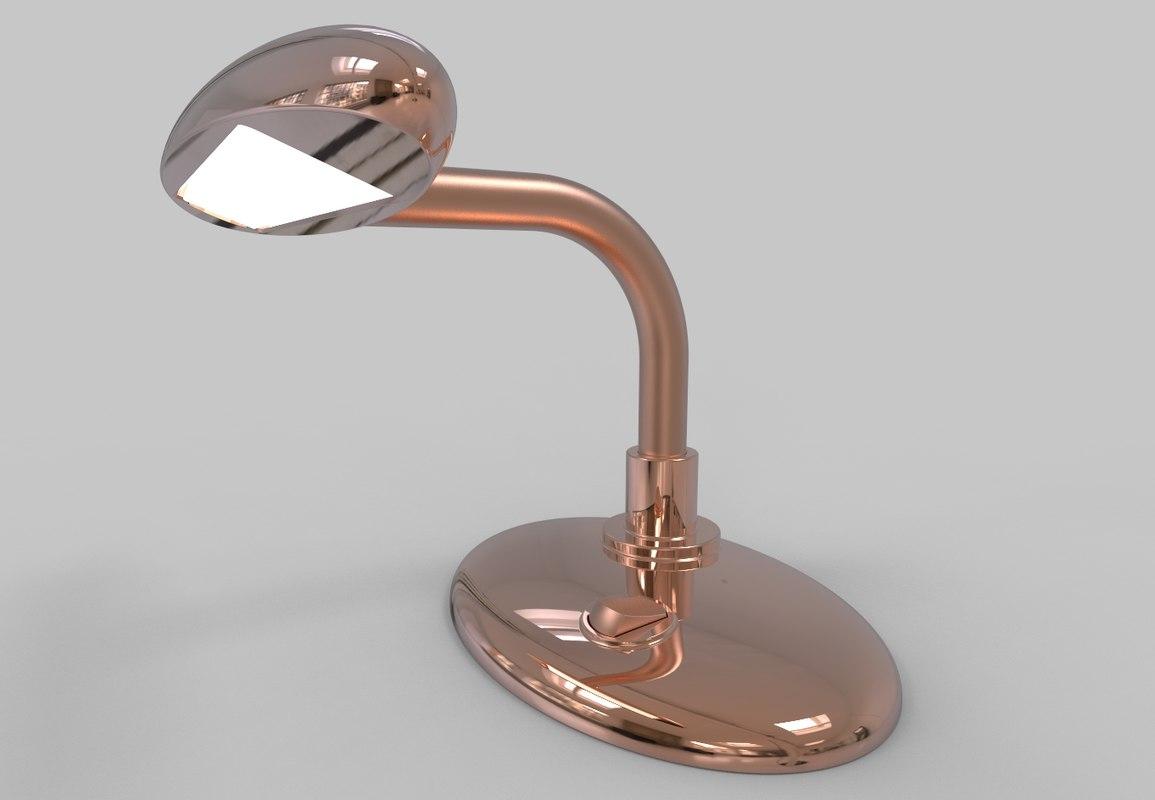 3D model reading lamp