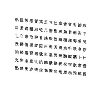 3D chinese ms pmincho font