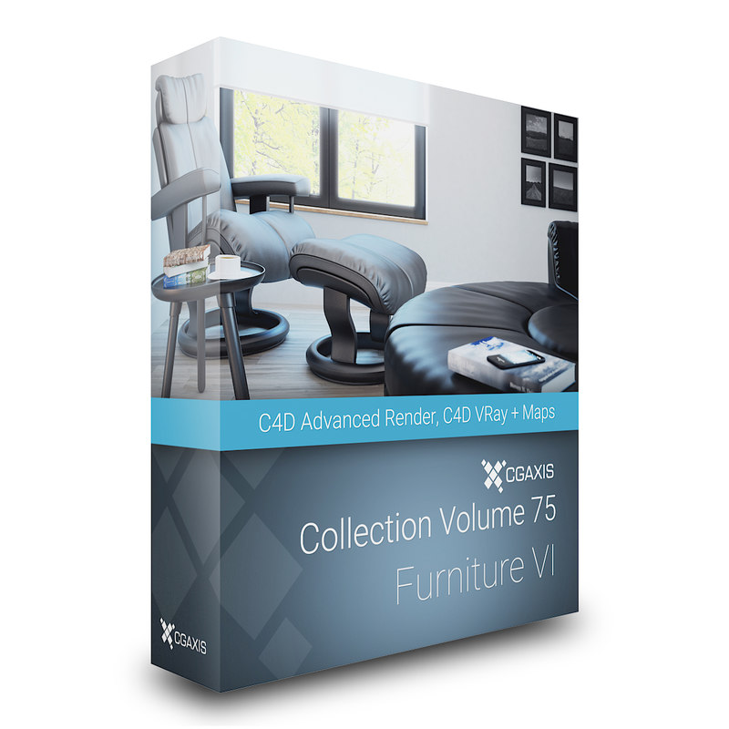 3D volume 75 furniture vi model