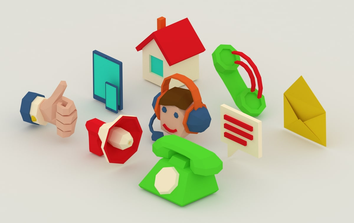 3D icons set contact model