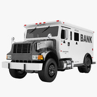3D bank armored truck