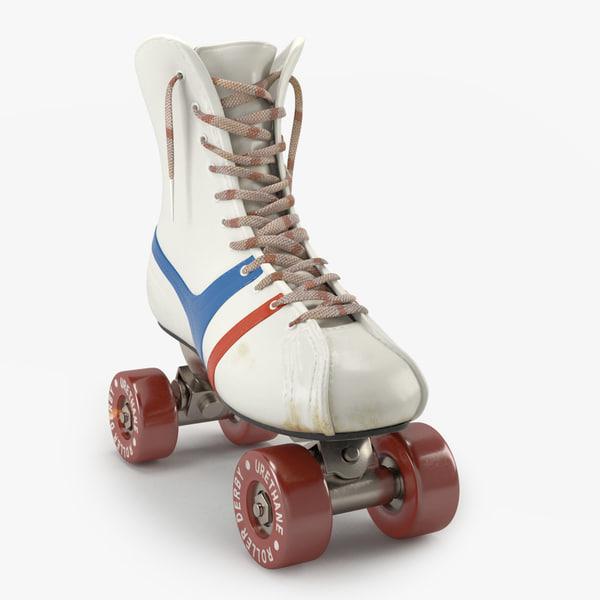 sculpted vintage skates 3D