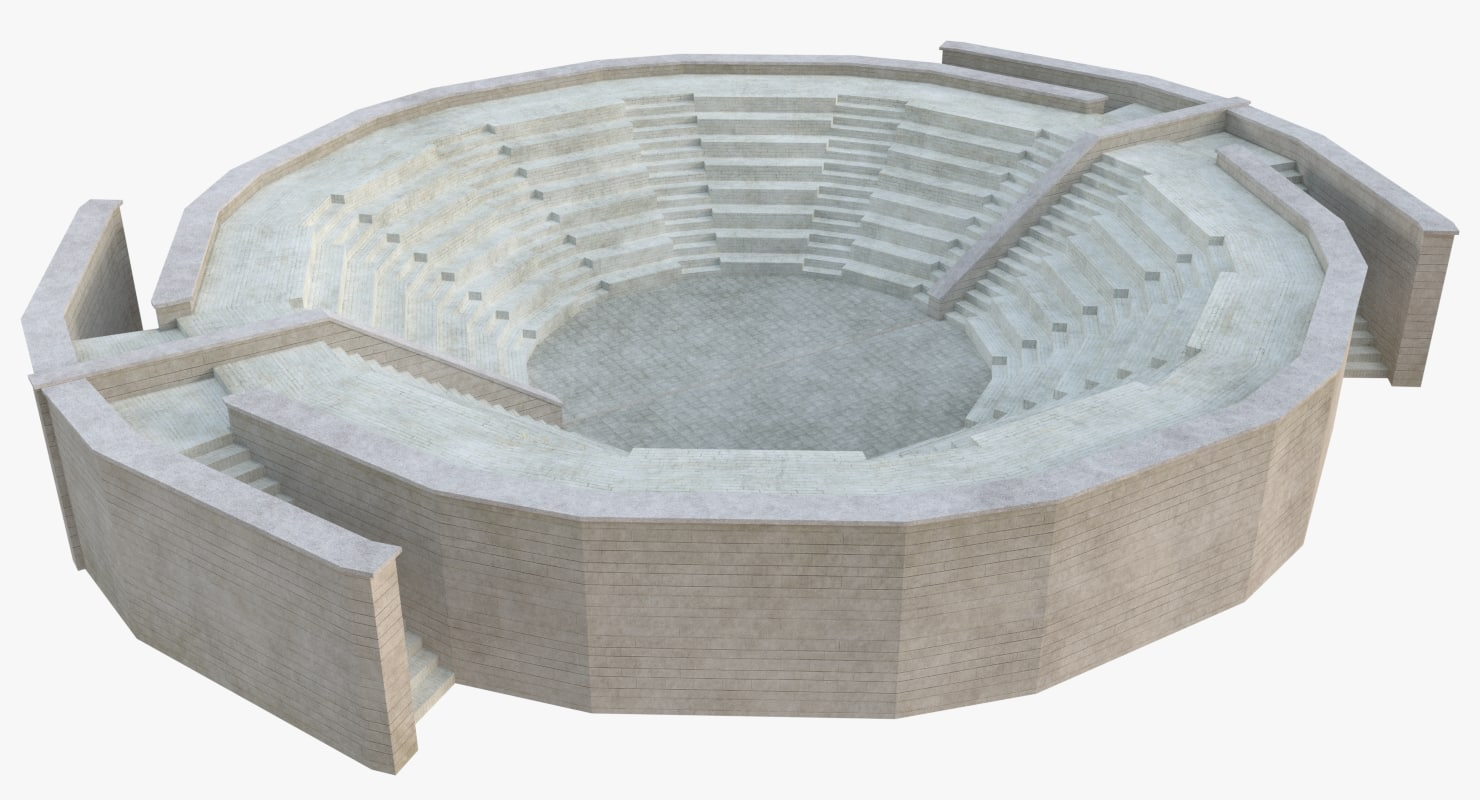 3D ancient amphitheatre model