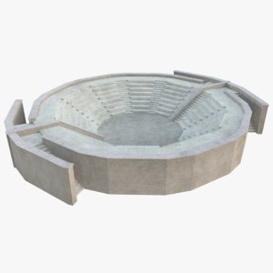 3D ancient amphitheatre model