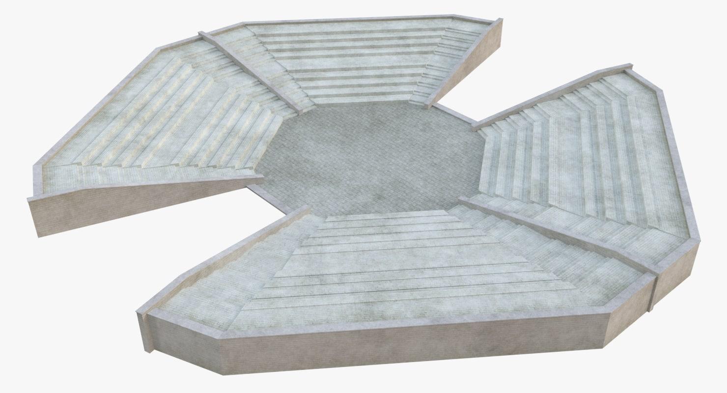 3D ancient amphitheatre 4
