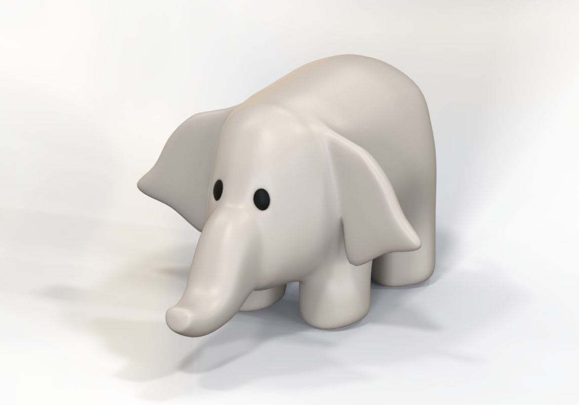 stuffed elephant 3D model
