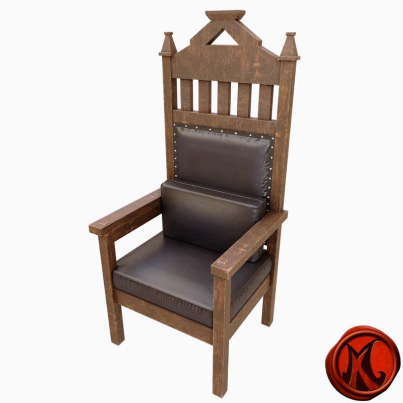 3D chair cushions model