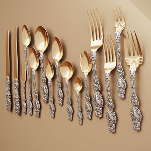 antiquarian flatware 3D