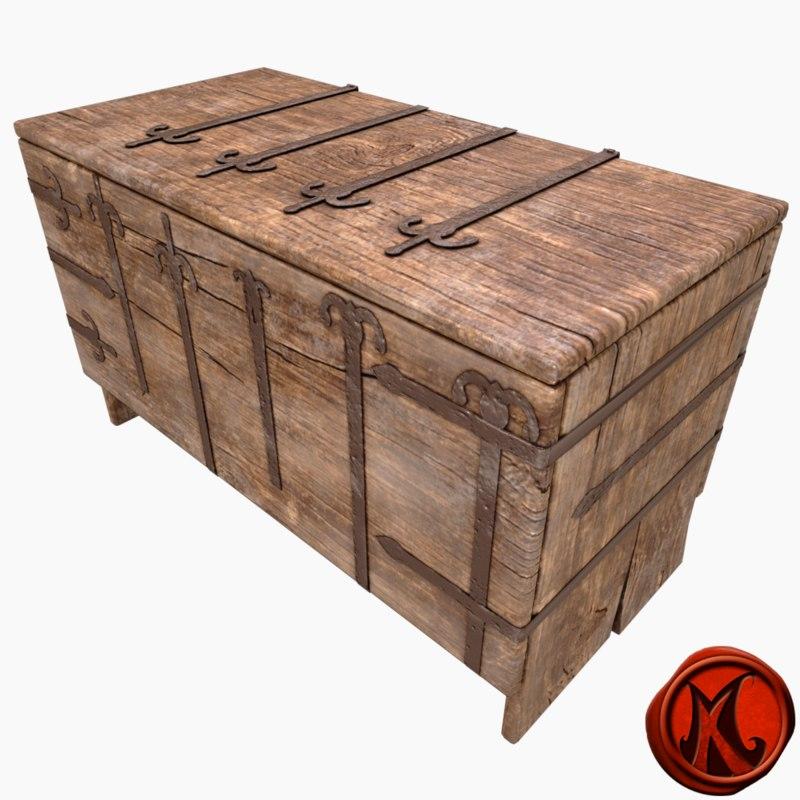 3D trunk container metallic