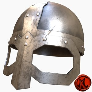 3D model helmet viking