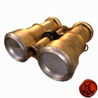 3D binoculars brass model
