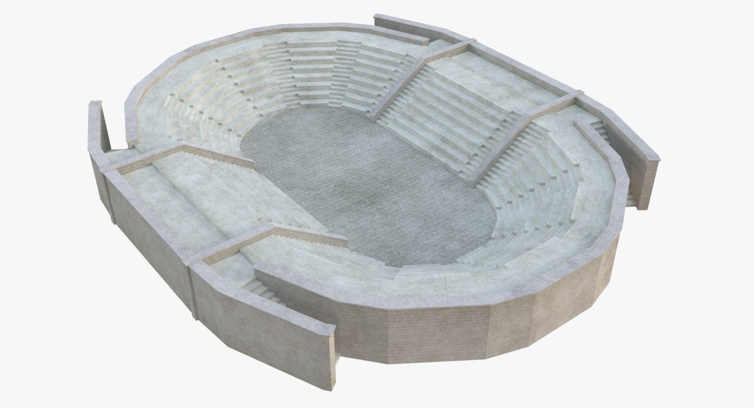 ancient amphitheatre 3D model