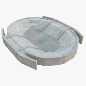 ancient amphitheatre 3D model