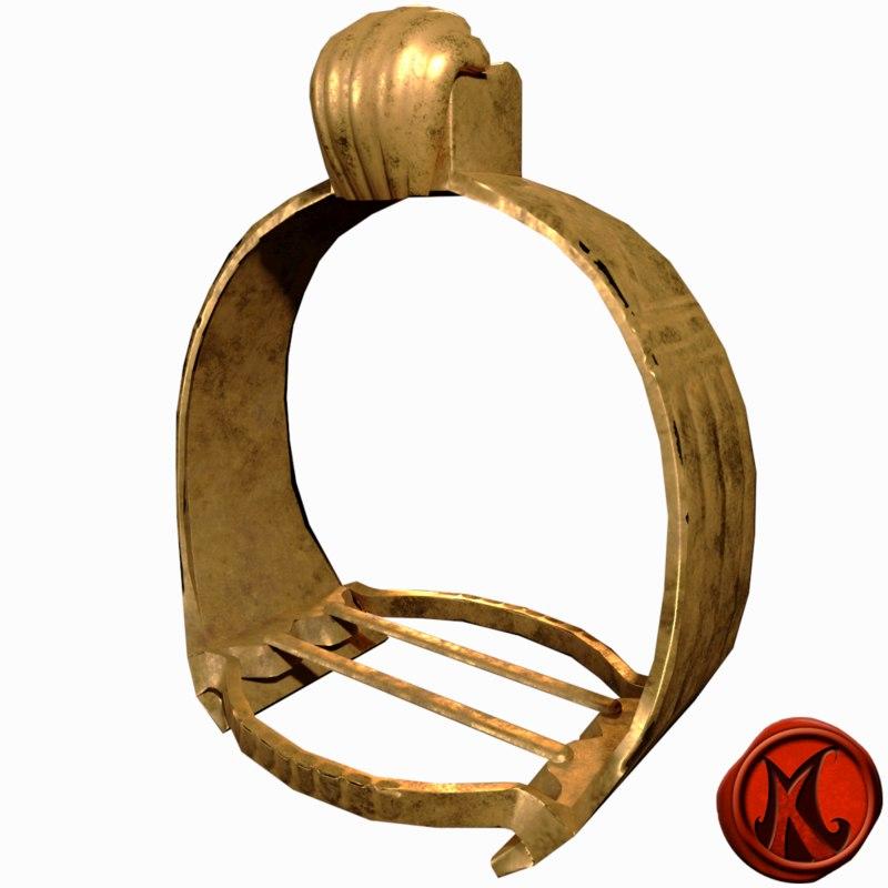 3D stirrups gold old model
