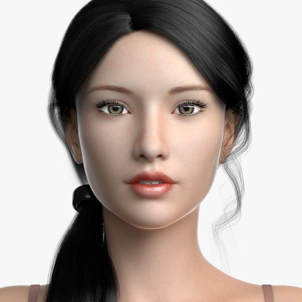 female hair 2 cinderella 3D