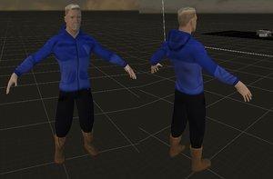 3D boris character rigged model