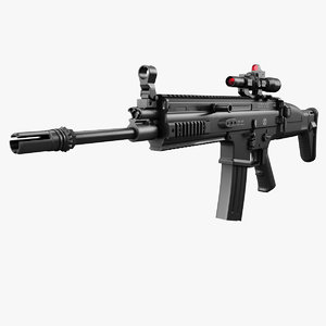 3D assault rifle fn scar