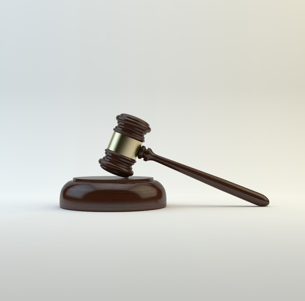 3D hammer judge model