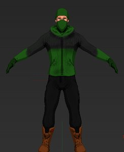 male character toon 3D model