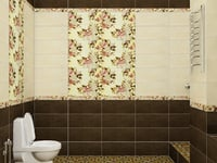 3D bathroom ceramic tile