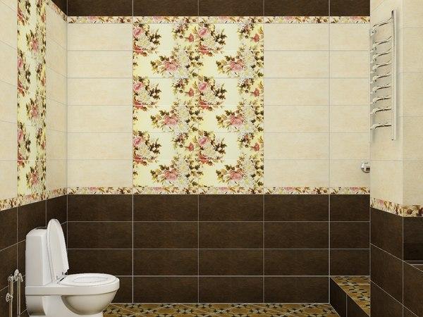 3D bathroom ceramic tile
