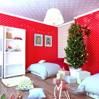children bedroom design 3D model