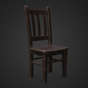 chair story wood 3D