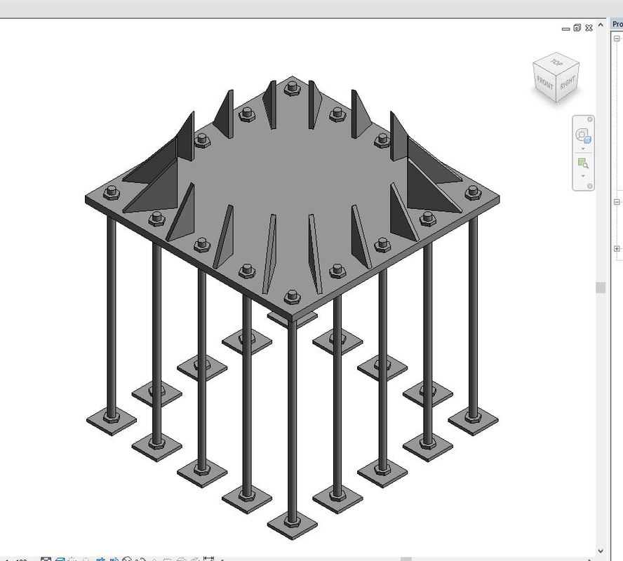 3D structure plate