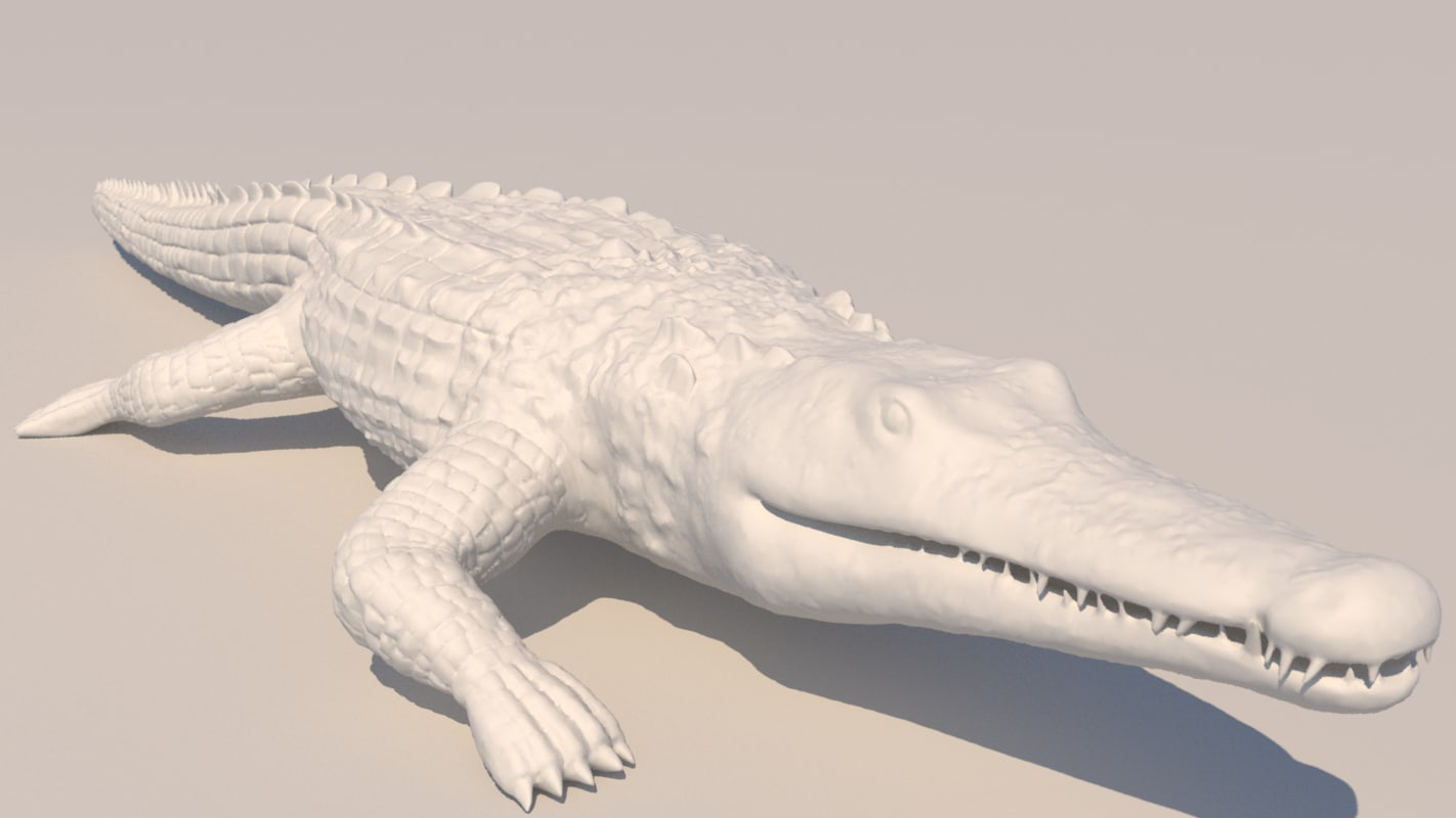 croc crocodile statue 3D model