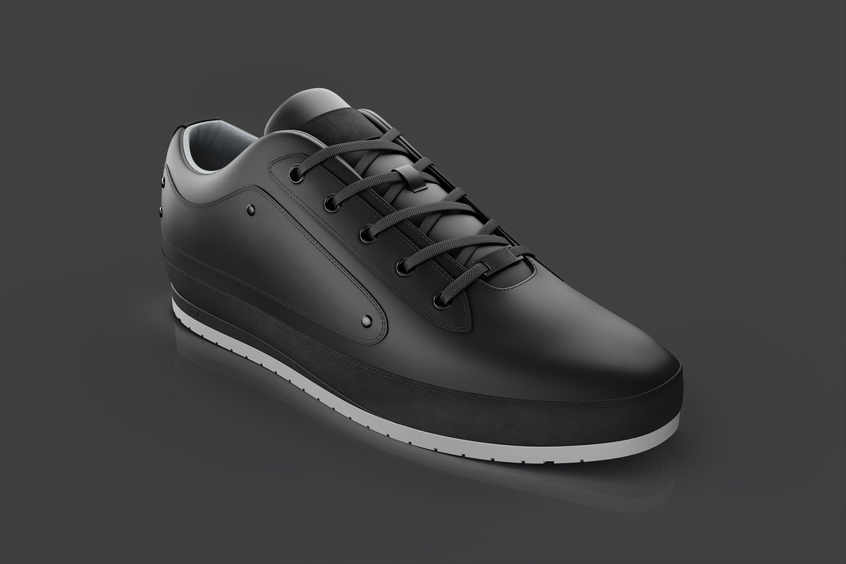 casual leather shoes 3D model