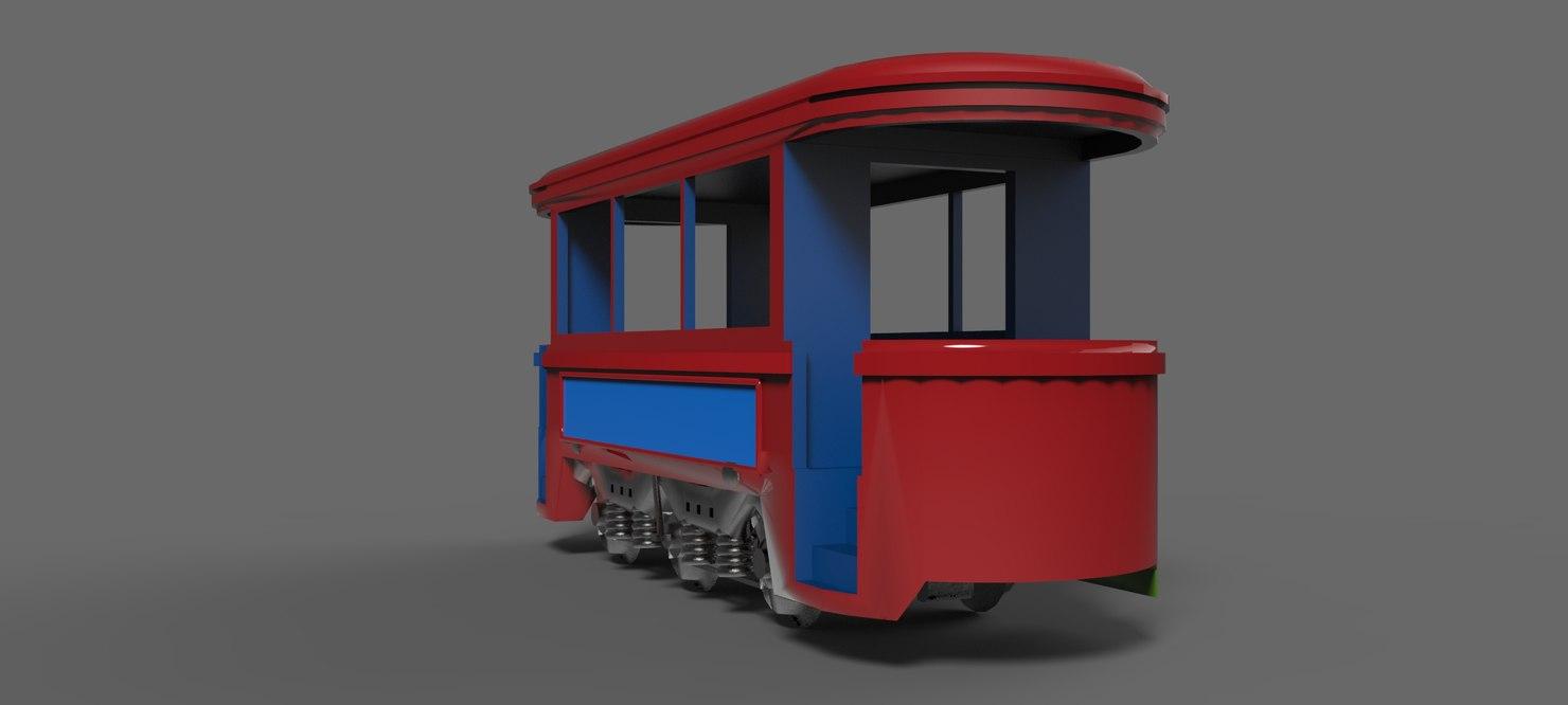 trolley trolleycar 3D model