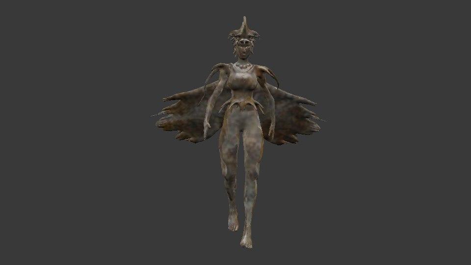 creature woman 3D model