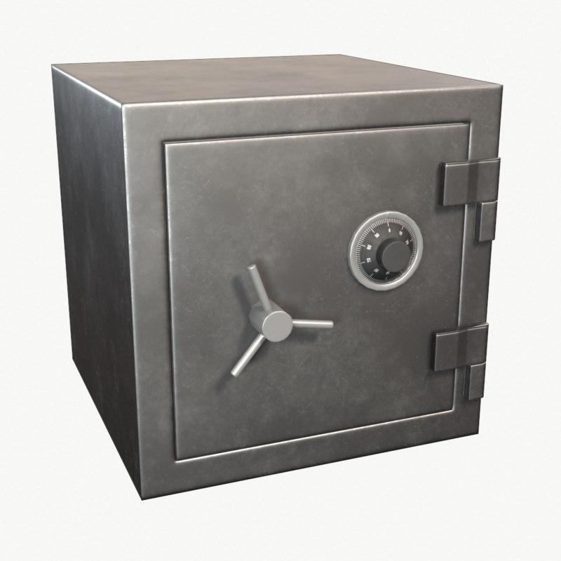 safe pbr gold 3D model