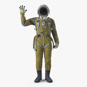3D ussr space suit strizh