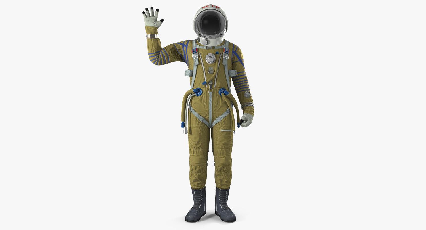 3D ussr space suit strizh
