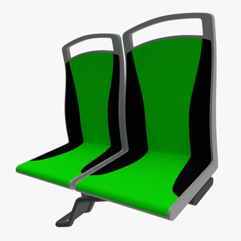 3D model passenger seat