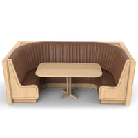 Round banquette seating