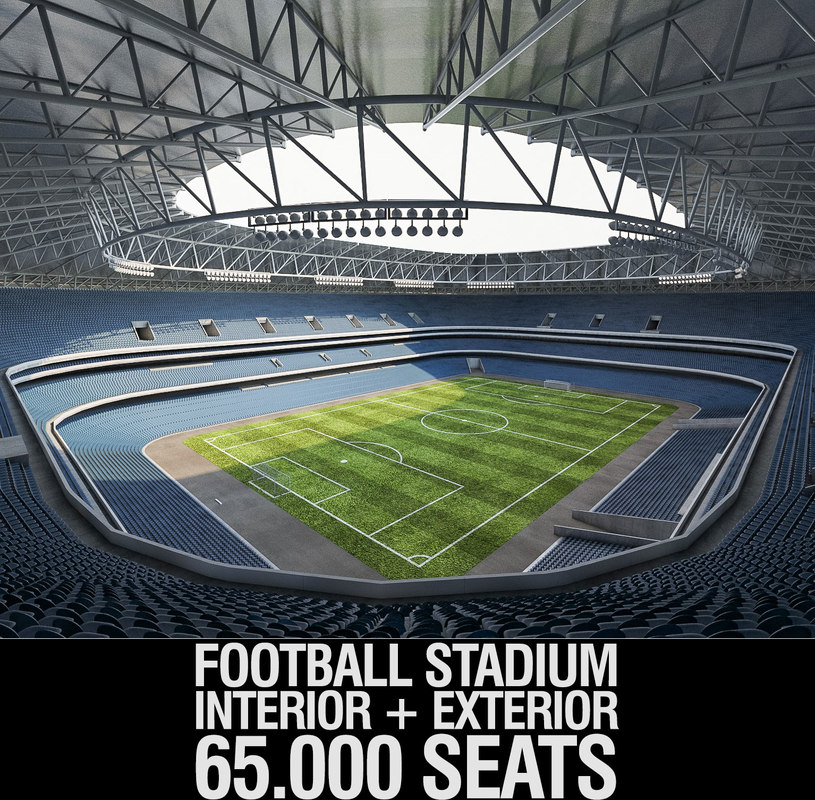 3D model luzhniki football stadium