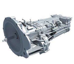 3D transmission engine parts model