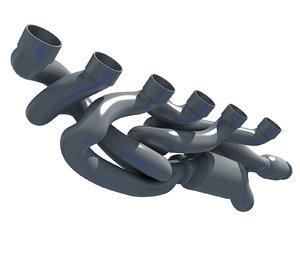 exhaust manifolds 3D model