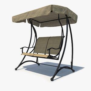 garden swing 3D model