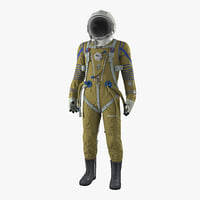 3D space suit strizh sk-1 model