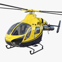 Police Helicopter MD 902 Explorer 3D Model