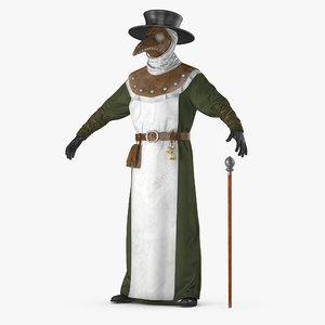 3D plague doctor costume