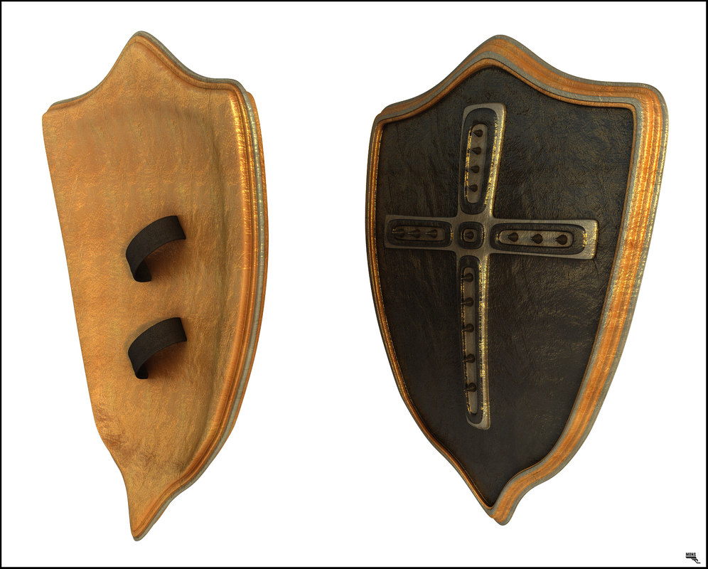 shield medieval 3D