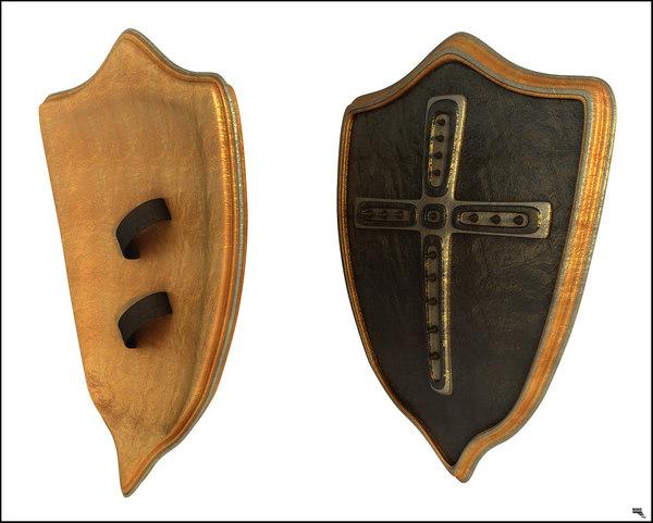 shield medieval 3D