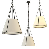3D chandelier aspen small conical