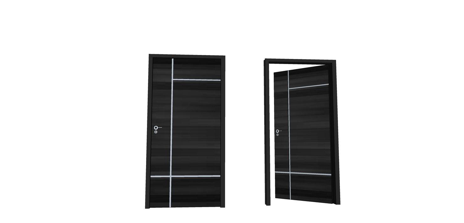 door black modern 3D model