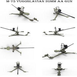 m-75 20mm aa 3D model